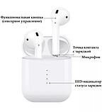 Бездротові навушники i10 TWS Оригінал mini аирподс блютус в стилі аерпоц + Бездротова зарядка в ПОДАРУНОК, фото 2