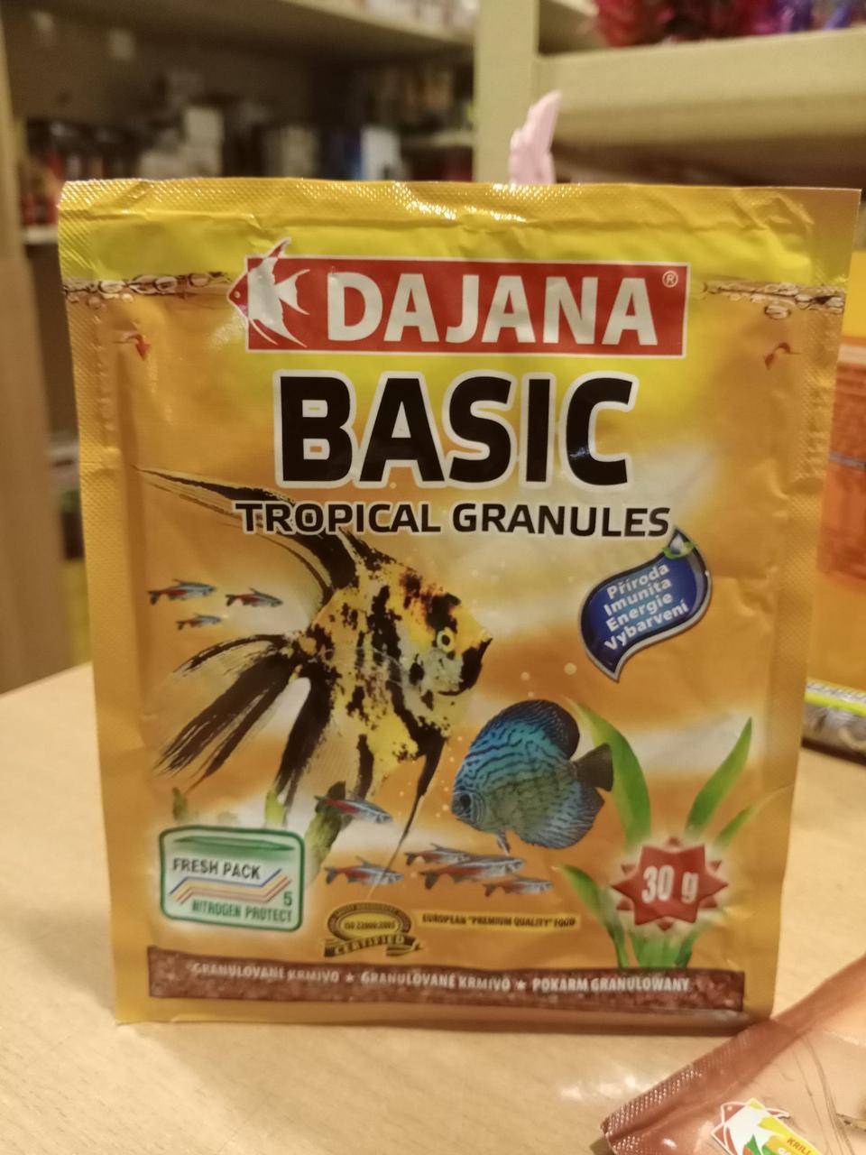 Dajana Tropi Gran Basic 30 g гранулированный корм для аквариумных рыб