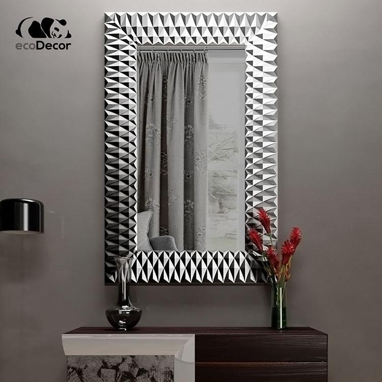 Зеркало в прихожую серебряное Daone