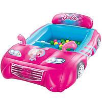 Надувной детский игровой центр кровать Bestway 93207 «Барби» с шариками 25 шт, фото 1
