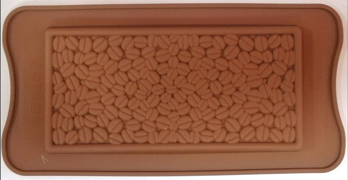 Силиконовая форма 21*10,5 см, Плитка Шоколада-Кофе