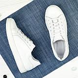 Дитячі шкіряні мокасини на шнурівці, колір білий, фото 2