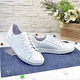 Дитячі шкіряні мокасини на шнурівці, колір білий, фото 4