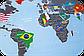Скретч карта мира c флагами Discovery Map World FLAGS Edition ENG 68*48 см Яркая карта мира с флагами стран по, фото 7