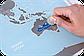Скретч карта мира c флагами Discovery Map World FLAGS Edition ENG 68*48 см Яркая карта мира с флагами стран по, фото 8