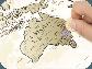 Скретч карта мира Discover & Scratch World Gold ENG Детальная скретч карта мира, фото 2