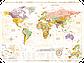 Скретч карта мира Discover & Scratch World Gold ENG Детальная скретч карта мира, фото 6