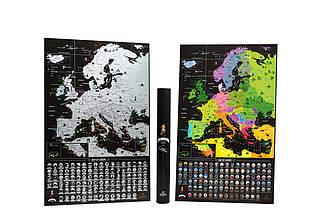 Черная скретч карта Европы - Europe Black Edition (My Map)