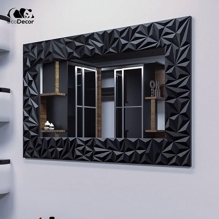 Зеркало в ванную черное Verona P1