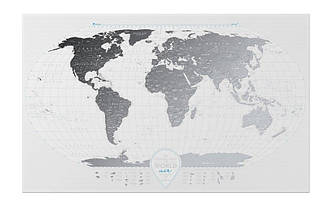 Прозрачная скретч карта мира Travel Map AIR world ENG 96*60 см Стильный подарок в квартиру и офис