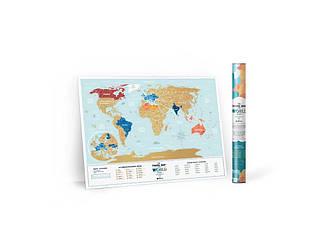 Скретч карта мира Travel Map Holiday LAGOON World ENG 80*60 см