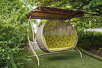 Качели садовые из ротанга подвесные Дабл Гранд