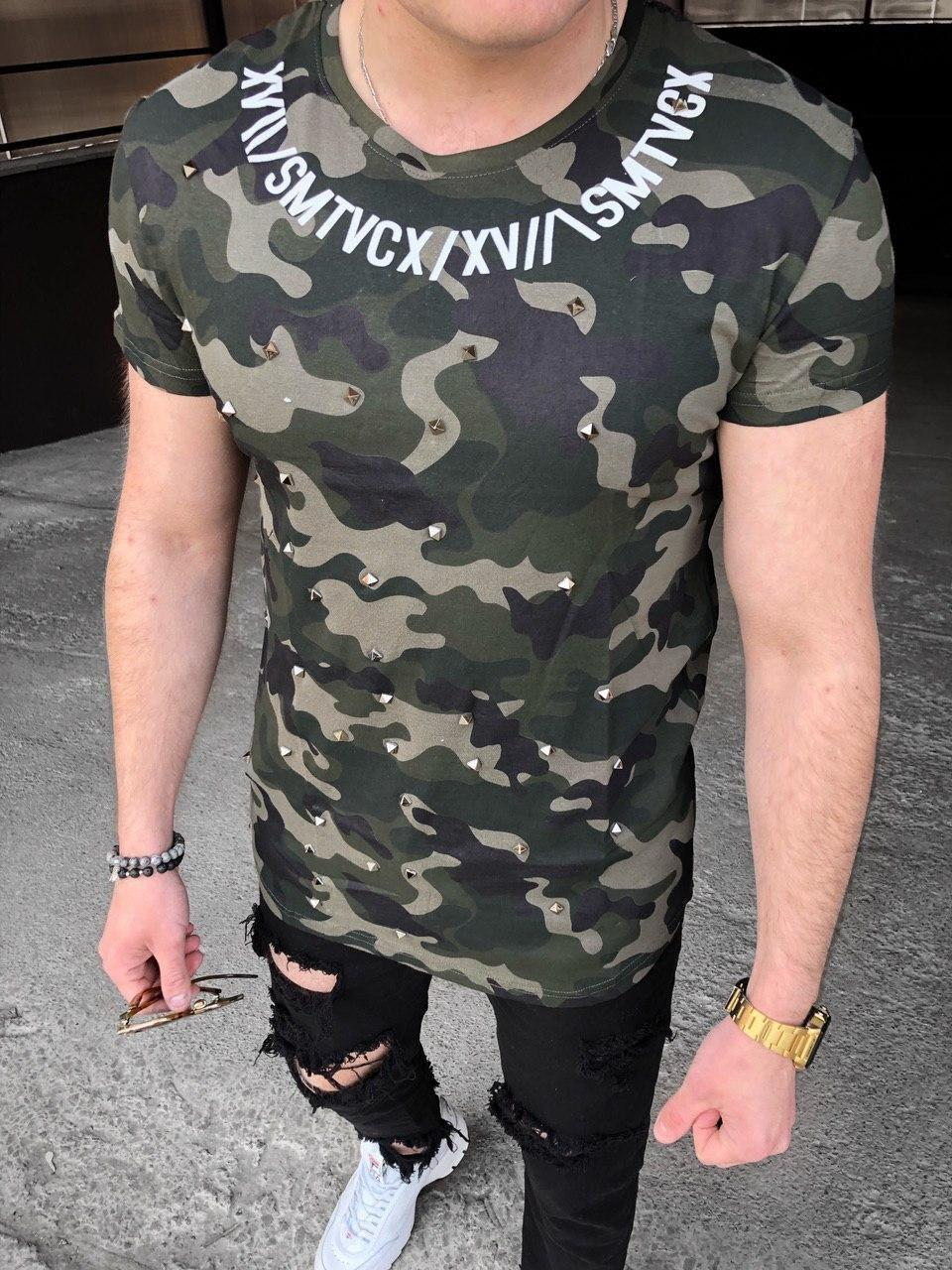 Мужская футболка M038 камуфляж