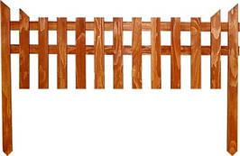 Деревянный дачный заборчик