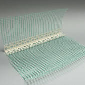 Профіль PVC (ПВХ) кутник пластиковий с армируючою сіткою, 3 м.