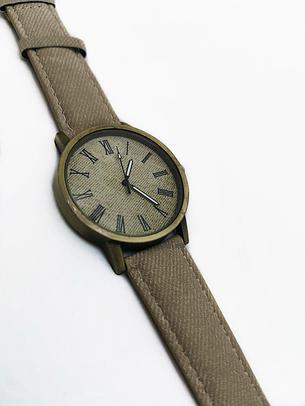Наручные часы джинсовые VOLRO Бежевый (vol-443), фото 2