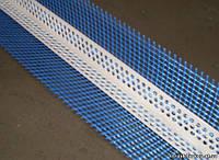 Профіль PVC (ПВХ) кутник пластиковий с армируючою сіткою, 2,5 м.