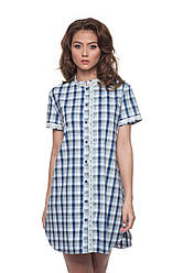 Домашнее LND 165/002 платье в клеточку ELLEN.