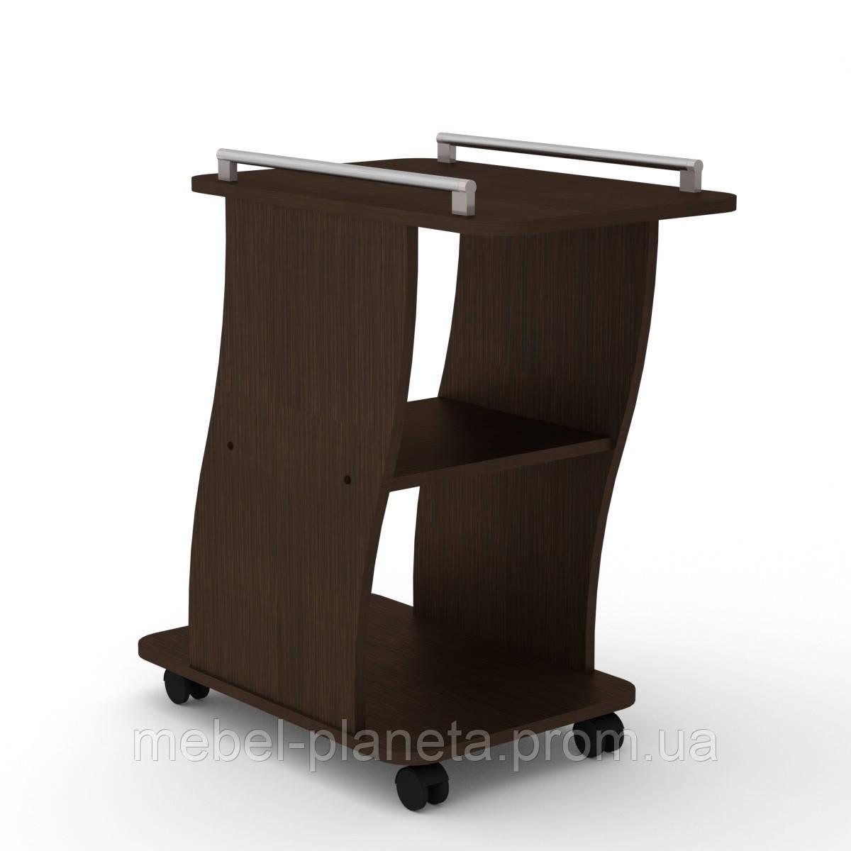 Журнальный столик на колесиках Вена Компанит, журнальный столик узкий