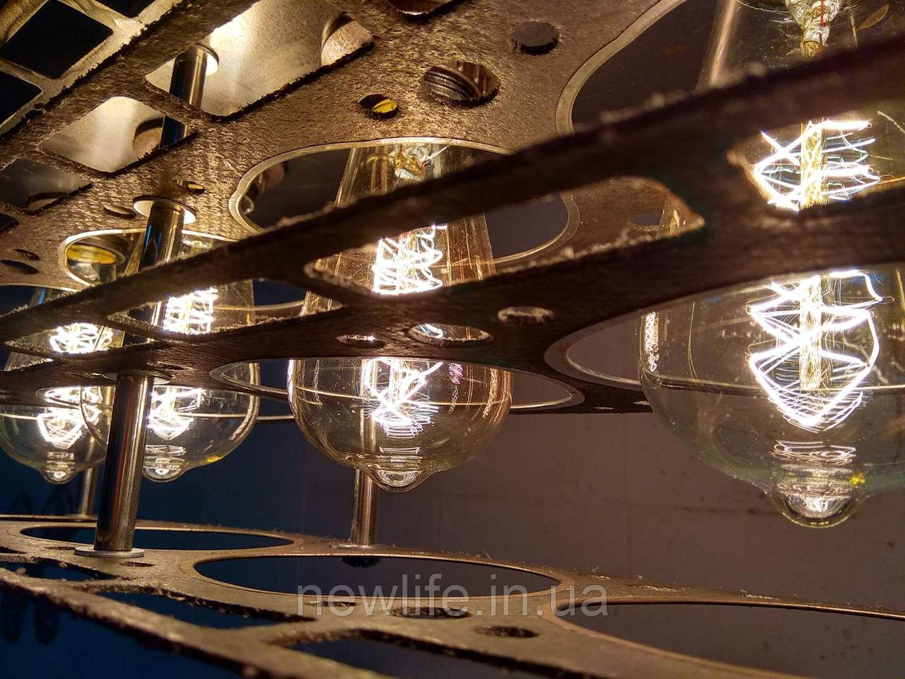 Люстры в стиле Лофт подвесные из металла