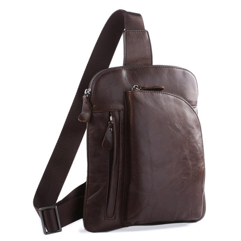 Шкіряна сумка через плече Navara 7194C