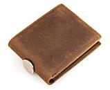 Шкіряний чоловічий компактний гаманець 8029B, фото 4