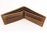 Шкіряний чоловічий компактний гаманець 8029B, фото 5