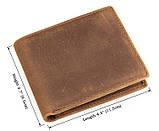 Шкіряний чоловічий компактний гаманець 8029B, фото 6
