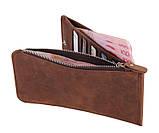 Кожаный кошелек на змейке Boss 8034R, фото 8
