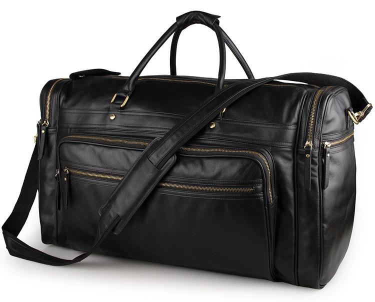 Вместительная удобная кожаная сумка  7317-1A