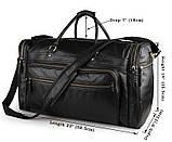 Вместительная удобная кожаная сумка  7317-1A, фото 8