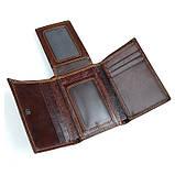 Кожаный вместительный кошелек R-8105Q, фото 4