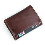 Кожаный вместительный кошелек R-8105Q, фото 6
