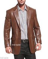 Чоловічий піджак з натуральної шкіри, фото 1