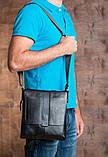Мужская черная сумка через плечо M2837A, фото 7