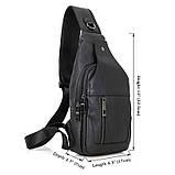 Кожаный рюкзак-сумка 4004A, фото 10