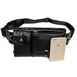 Шкіряна чорна сумка на пояс MR9080A, фото 2