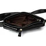 Кожаная черная сумка на пояс MR9080A, фото 9