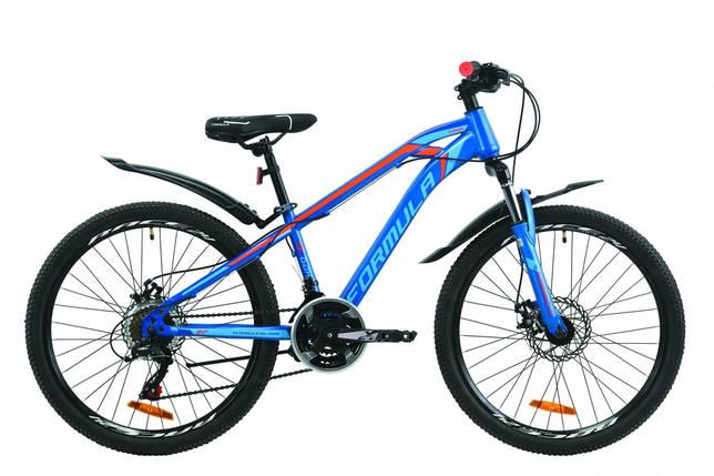 """Велосипед 24"""" Formula DAKAR 2020 (сине-оранжевый (м)), фото 2"""