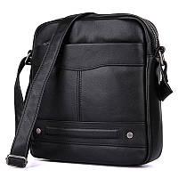 Мужская черная сумка через плечо 1022A, фото 1