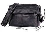 Мужская кожаная винтажная сумка 1026A, фото 9