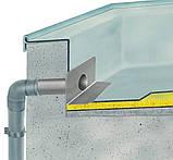 Воронка ПВХ Impertek 65*100 L425 мм переливная парапетная для ПВХ мембран, фото 3