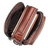 Коричнева шкіряна сумка через плече з шкіри 1010B, фото 9