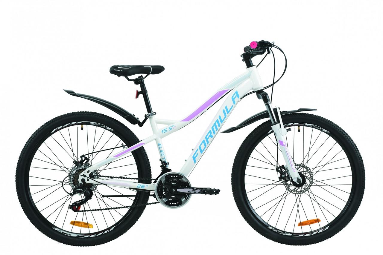 """Велосипед 26"""" Formula ELECTRA DD15 2020 (бело-голубой с сиреневым)"""