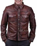 Рубашка мужская кожа