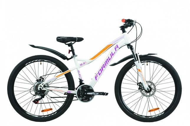 """Велосипед 26"""" Formula ELECTRA DD15 2020 (бело-фиолетовый с оранжевым), фото 2"""