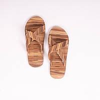 Деревянные тапочки для бани и сауны Яро из редкой породы берест