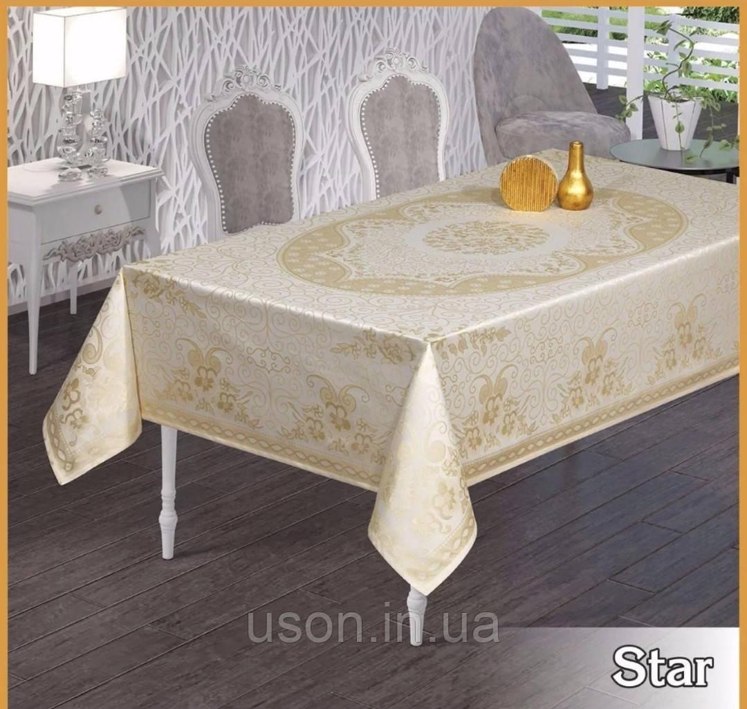 Скатерть тефлоновая прямоугольная MAISON ROYALE STAR 160*220  цвет белый