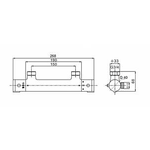 Смеситель для душа Q-tap Inspai-Therm CRM T300100, фото 2