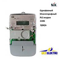 Электросчетчик  NIK 2104 AP2T.1802.МC.11 Однофазный, многотарифный, PLC модем, 220В 5(60)А, фото 1